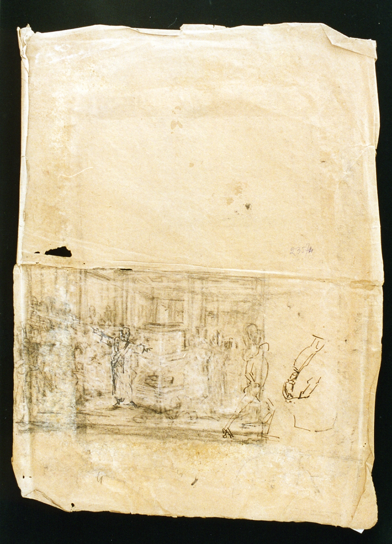 schizzi di figure varie (disegno) di De Vivo Tommaso (metà sec. XIX)