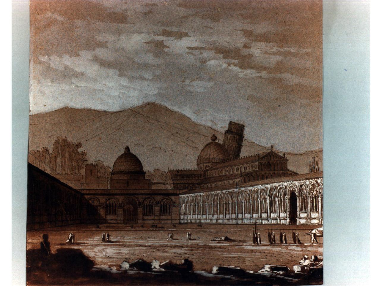 veduta di città (disegno, elemento d'insieme) di Niccolini Antonio (sec. XIX)