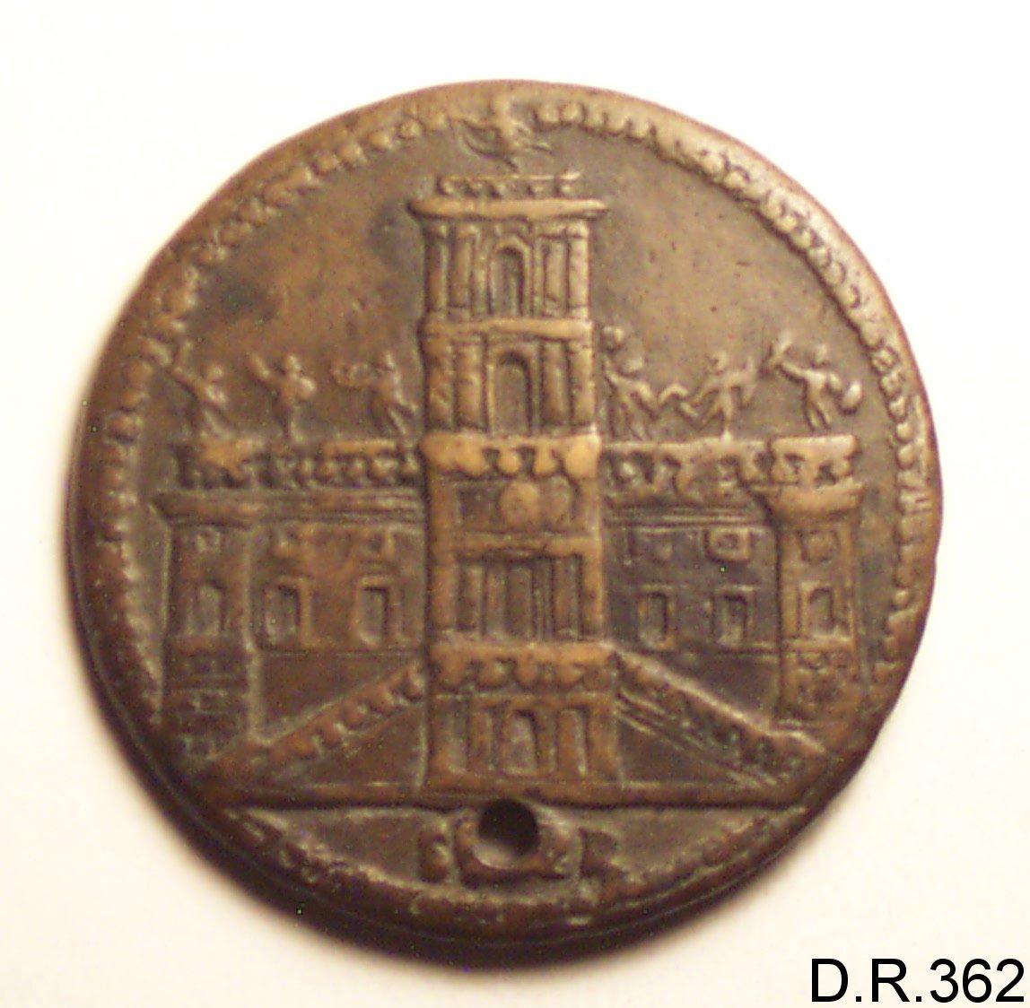 medaglia - bottega italiana (ultimo quarto sec. XVI)