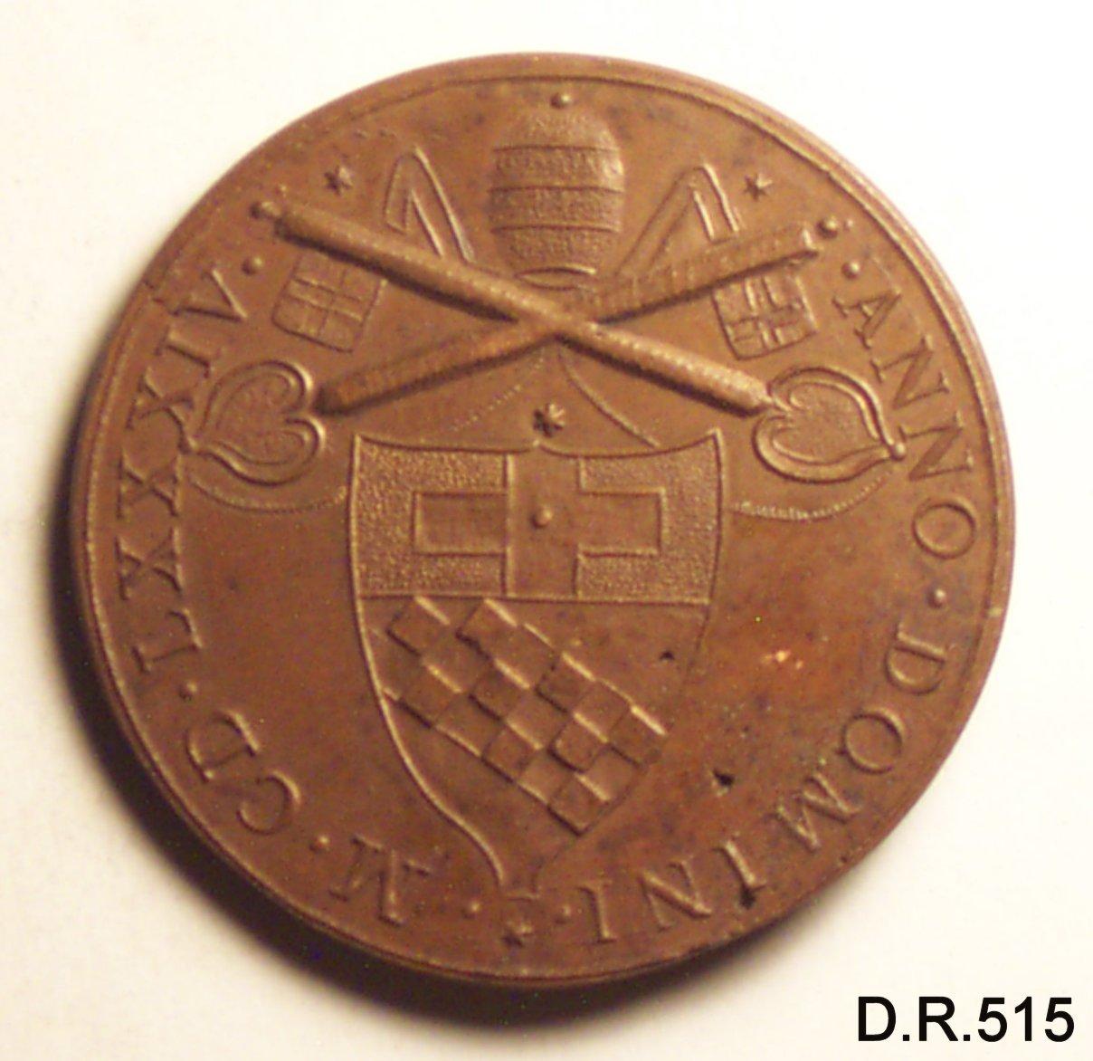 medaglia di Paladino Gerolamo (sec. XVII)