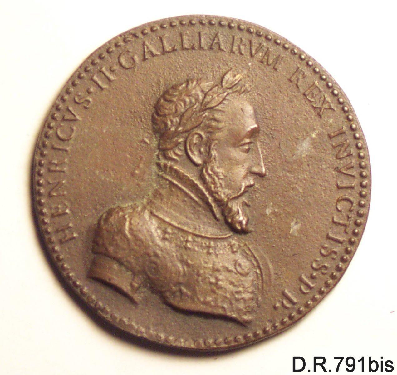 medaglia - ambito francese (metà sec. XVI)