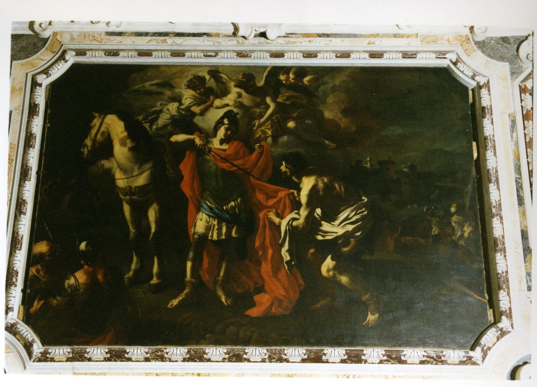 San Martino dona parte del mantello al povero (dipinto) di Solimena Francesco detto Abate Ciccio (sec. XVIII)
