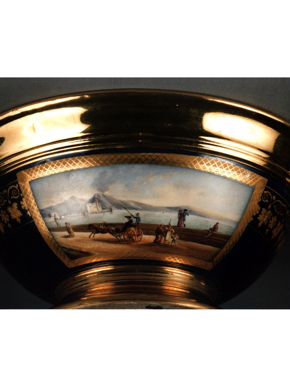 scena campestre con figure (servizio da colazione, insieme) di Giovine Raffaele - manifattura francese (sec. XIX)