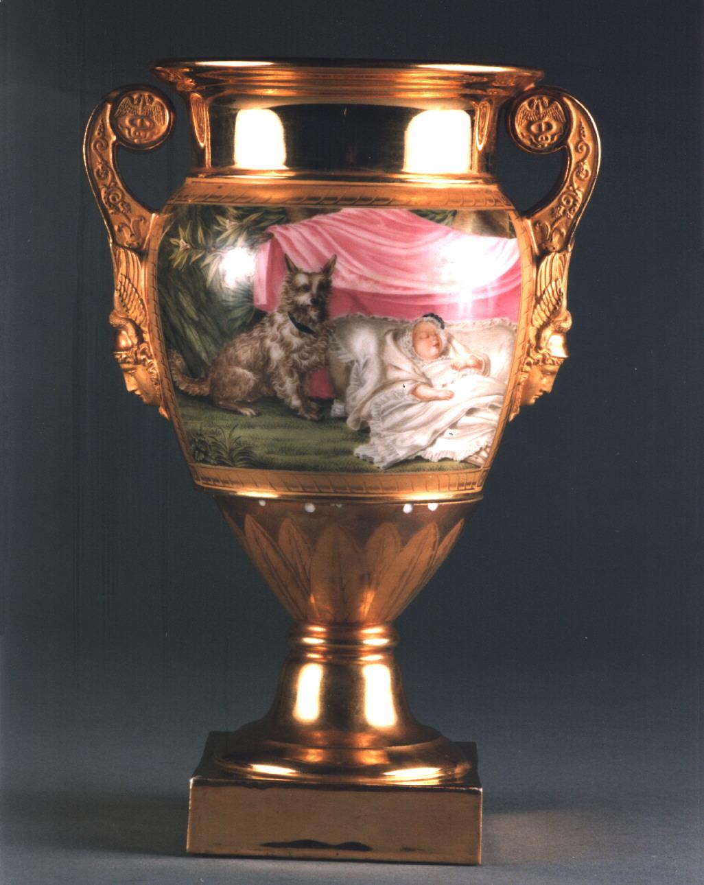 scena campestre con figure (vaso) - manifattura francese (secondo quarto sec. XIX)