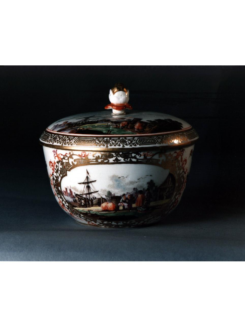 paesaggio (servizio da thè, insieme) - manifattura di Meissen (sec. XVIII)