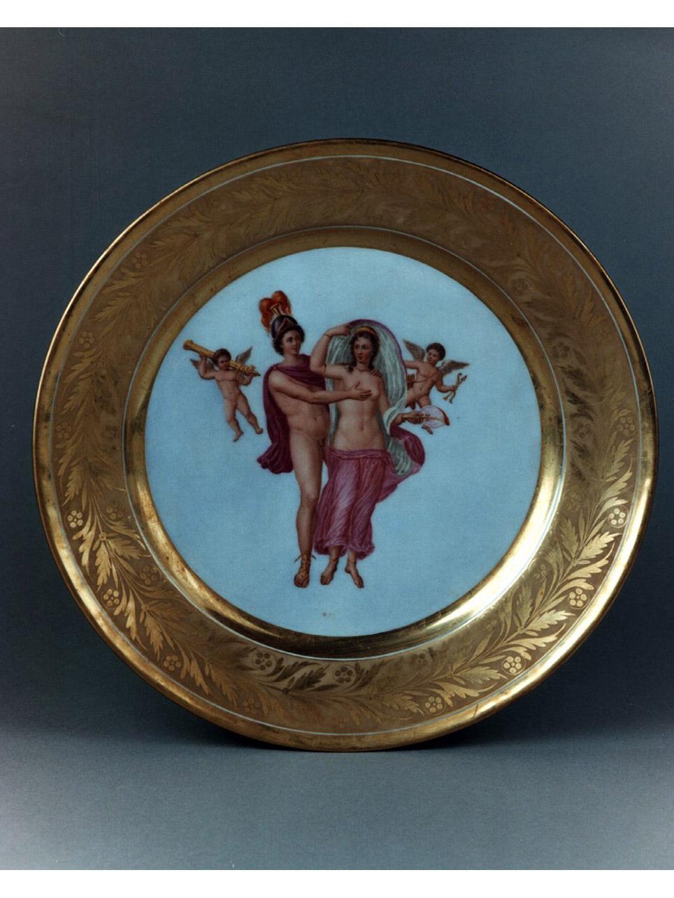 Personaggi e scene da cicli letterari (servizio di piatti) di Giovine Raffaele (sec. XIX)