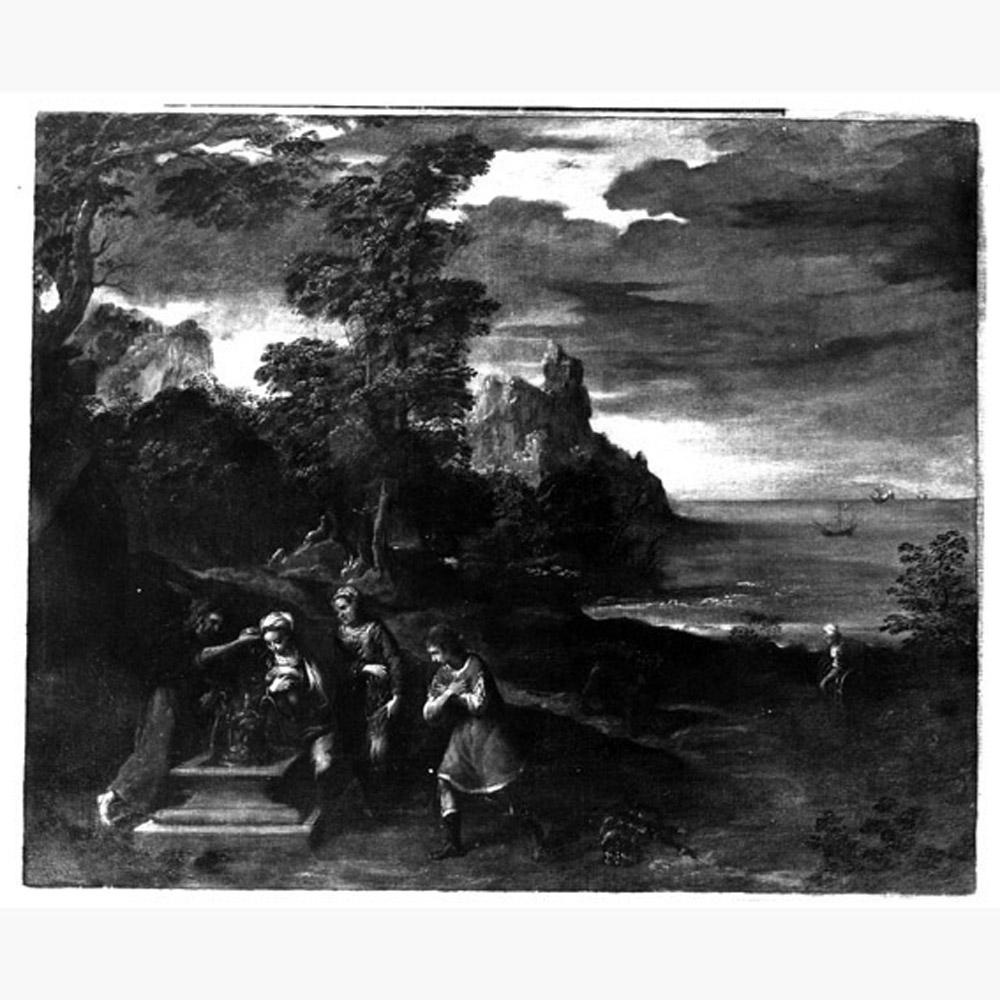 scena mitologica (dipinto, serie) di Scarsella Ippolito detto Scarsellino (inizio sec. XVII)
