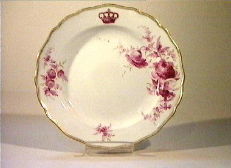motivi decorativi floreali (piatto) - manifattura di Meissen (sec. XIX)