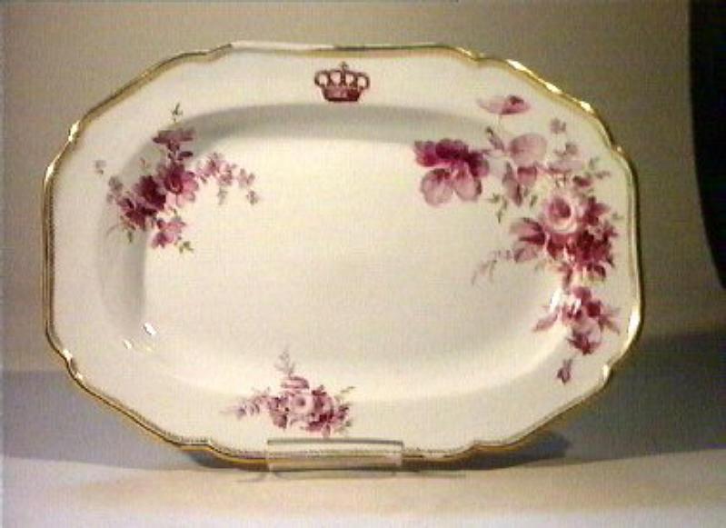 motivi decorativi floreali (piatto da portata) - manifattura di Meissen (sec. XIX)