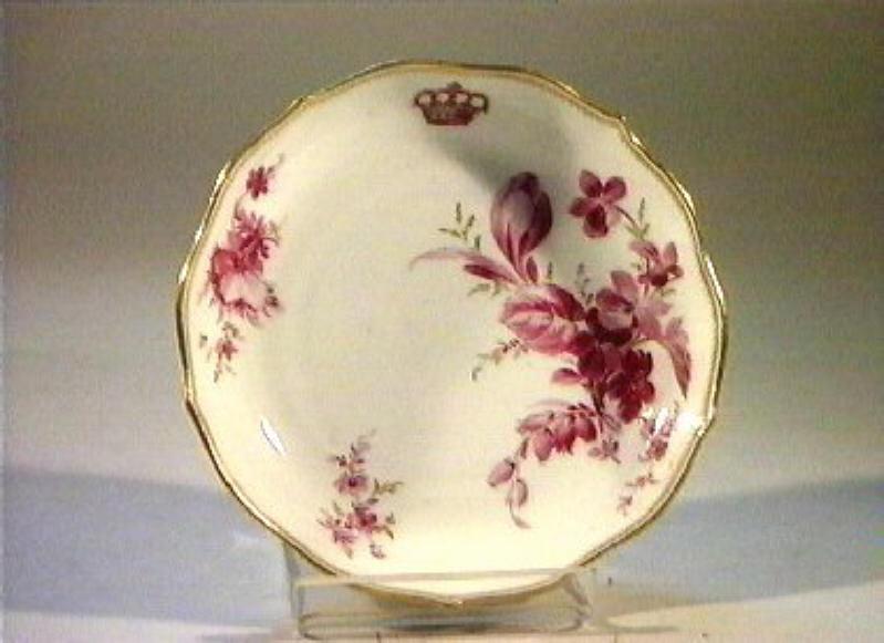 motivo decorativo floreale (piattino) - manifattura di Meissen (sec. XIX)