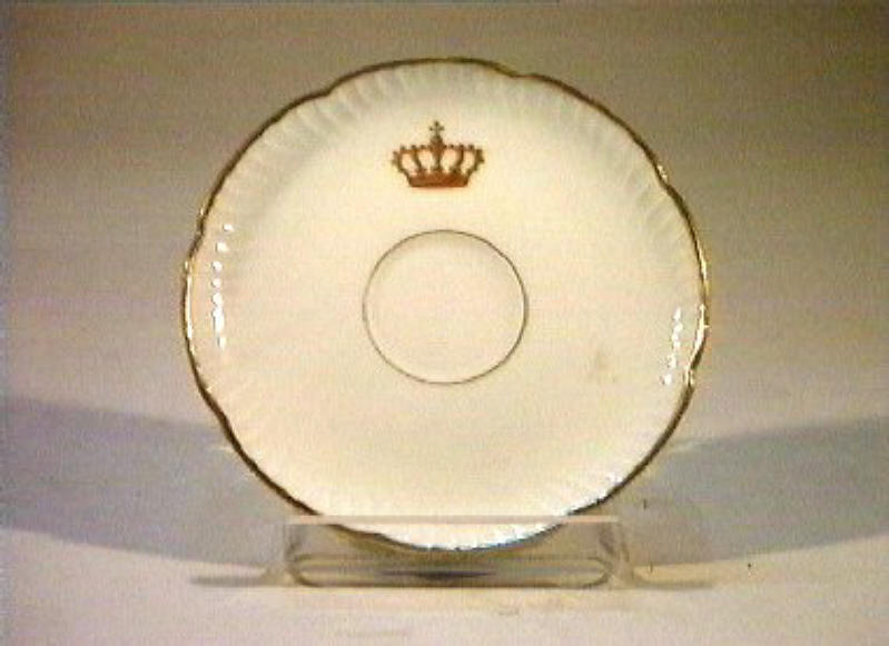 corona Savoia (piattino) - manifattura Richard-Ginori (sec. XIX)
