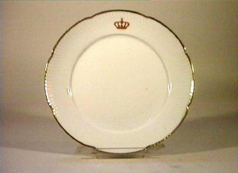 corona Savoia (piatto) - manifattura Richard-Ginori (sec. XIX)