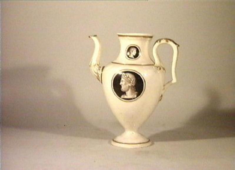 testa d'uomo (caffettiera) di Securo Francesco (sec. XIX)