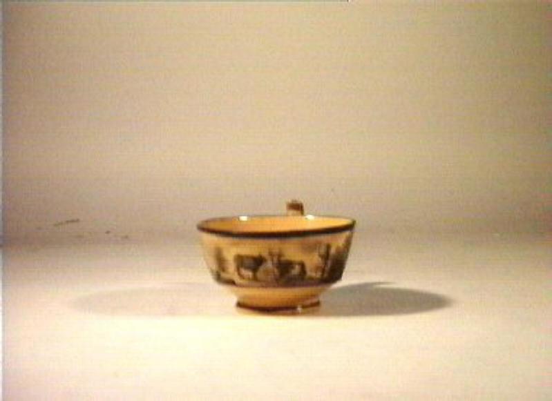 paesaggio agreste (tazza) - manifattura Giustiniani (sec. XIX)