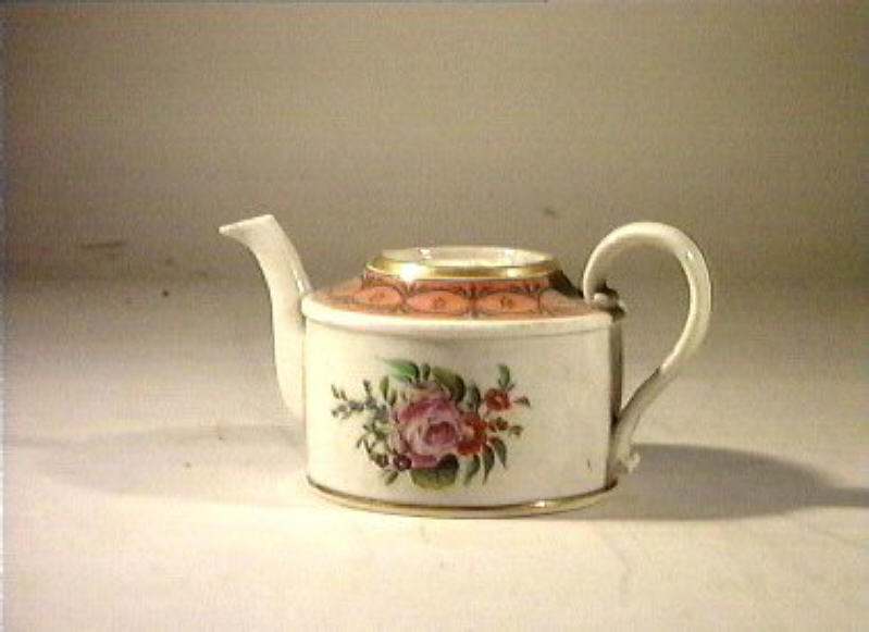 motivi decorativi floreali (teiera) - manifattura Poulard Prad (sec. XIX)