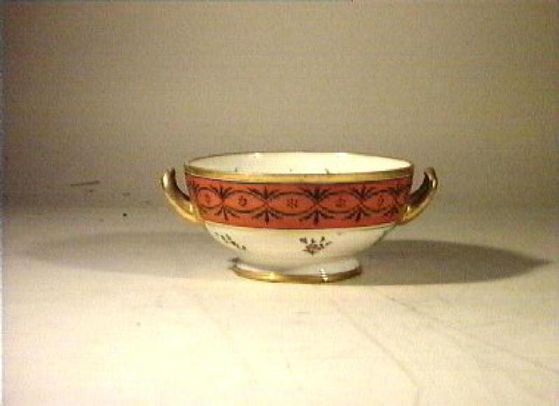 motivi decorativi floreali (ponciera) - manifattura Poulard Prad (sec. XIX)