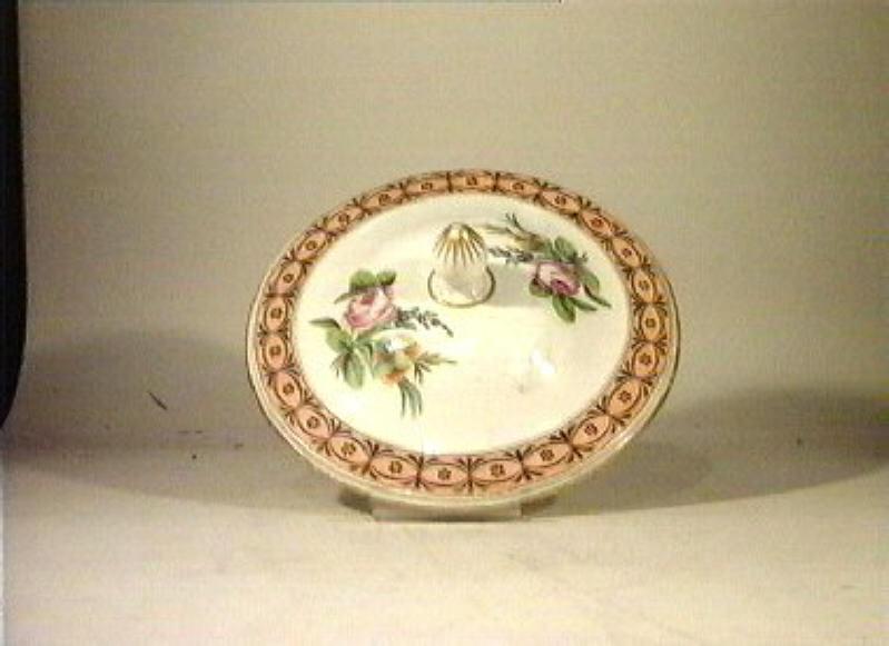 motivi decorativi floreali (coperchio) - manifattura Poulard Prad (sec. XIX)