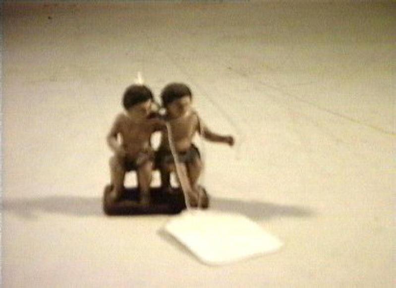 coppia di figure maschili sedute (statuetta) - bottega italiana (sec. XVIII)