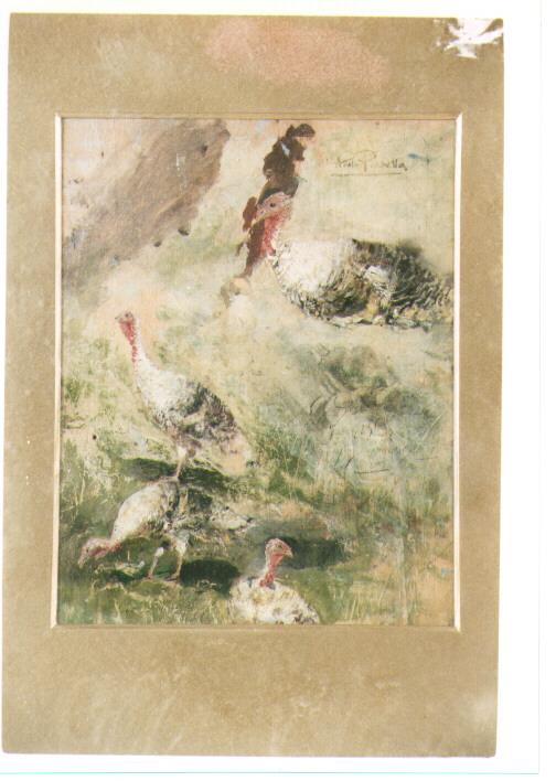 animali (dipinto) di Pratella Attilio (prima metà sec. XX)