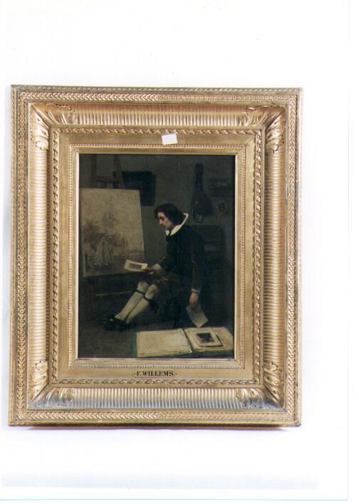 il pittore, figura maschile (dipinto) di Willems Florent (sec. XIX)