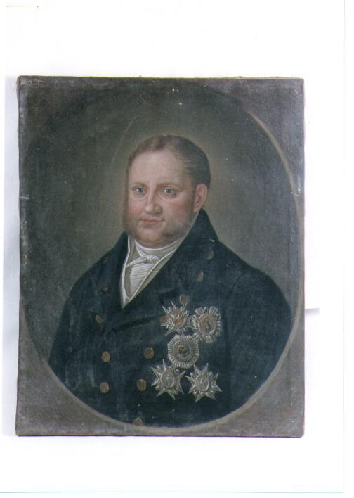 ritratto d'uomo (dipinto) - ambito napoletano (sec. XIX)