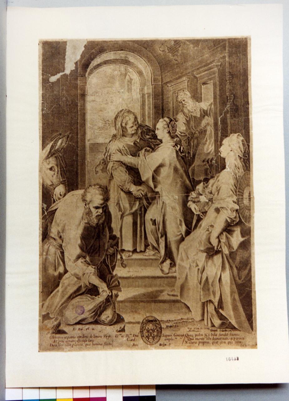 visitazione (stampa) di Van Veen Gijsbert, Fiori Federico detto Federico Barocci (sec. XVI)