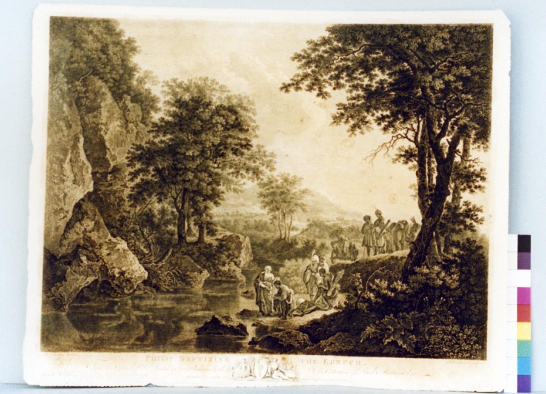San Filippo battezza l'eunuco (stampa) di Browne John (sec. XVIII)