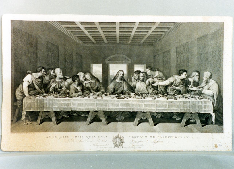 ultima cena (stampa) di Matteini Teodoro, Rainaldi Francesco (secc. XVIII/ XIX)