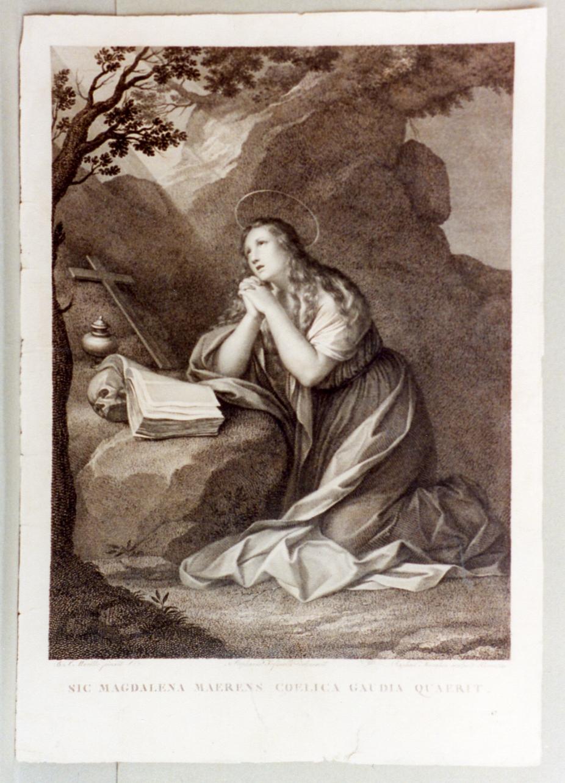 Santa Maria Maddalena penitente (stampa) di Morghen Raffaello, Tofanelli Stefano (secc. XVIII/ XIX)