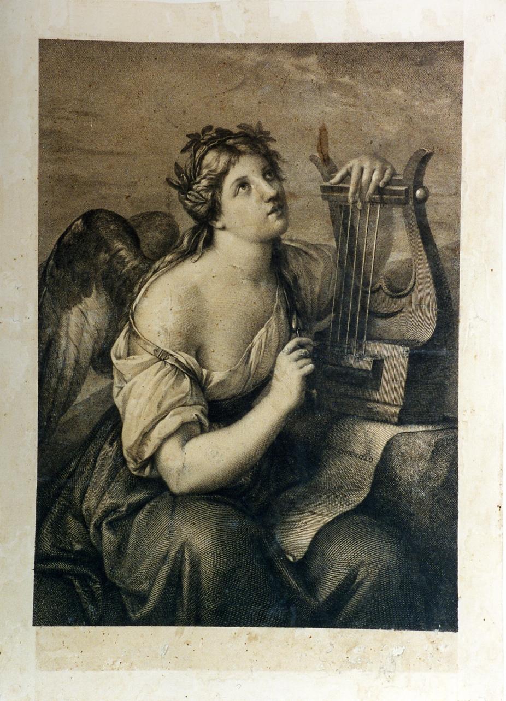 allegoria della Musica (stampa) di Hamilton Gavin, Morghen Raffaello (secc. XVIII/ XIX)