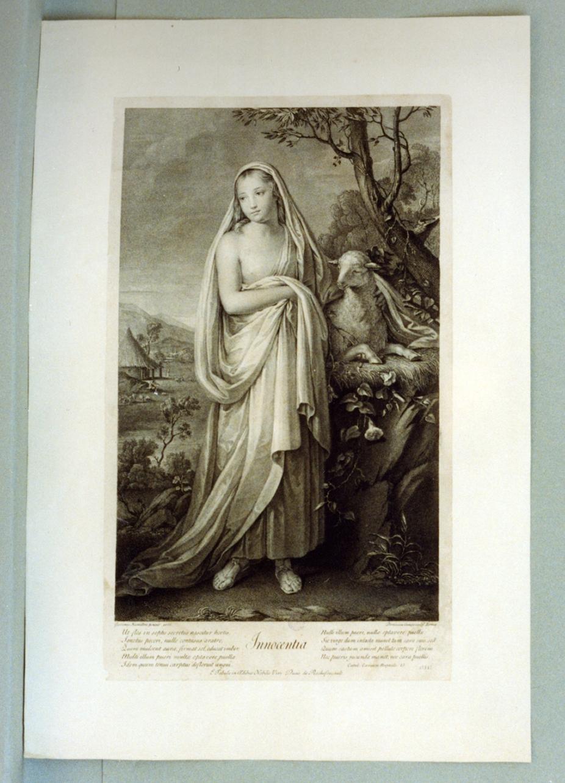 Innocenza (stampa) di Hamilton Gavin, Cunego Domenico (secc. XVIII/ XIX)