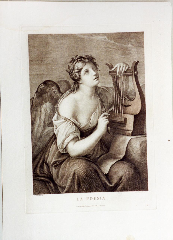 allegoria della poesia (stampa) di Hamilton Gavin, Tofanelli Andrea (secc. XVIII/ XIX)