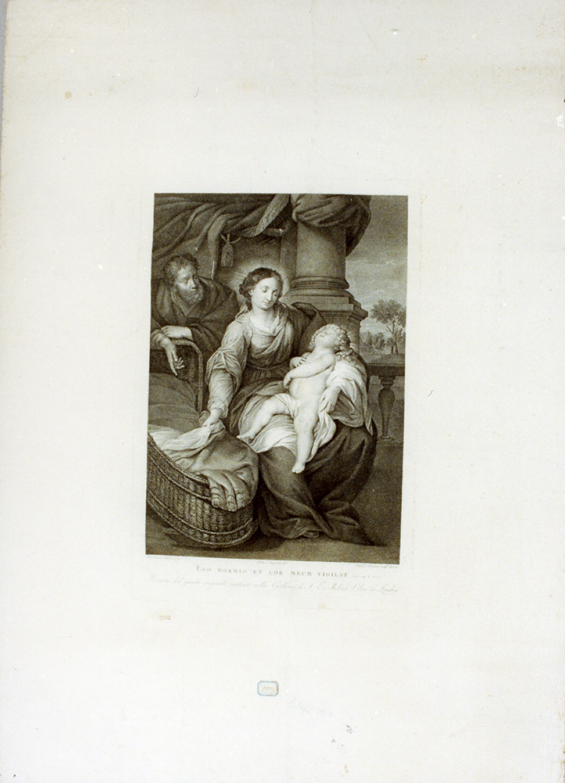Sacra Famiglia (stampa) di Angeletti Pietro, Morghen Raffaello (sec. XIX)