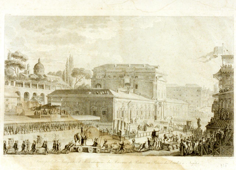 paesaggio con architetture (stampa) di Duplessi Bertaux Jean (sec. XVIII)