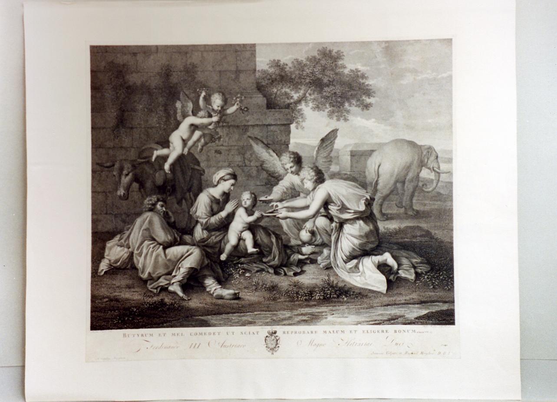 riposo nella fuga in Egitto (stampa) di Morghen Raffaello, Tofanelli Stefano (secc. XVIII/ XIX)