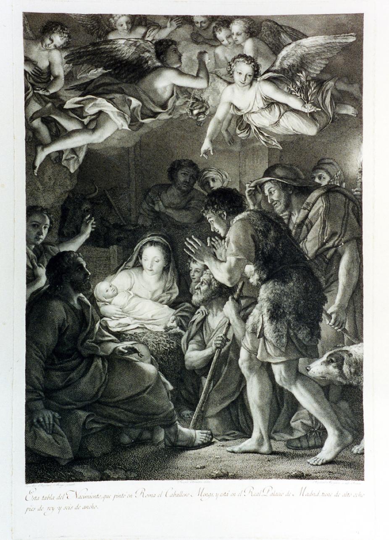 adorazione dei pastori (stampa) di Morghen Raffaello (secc. XVIII/ XIX)