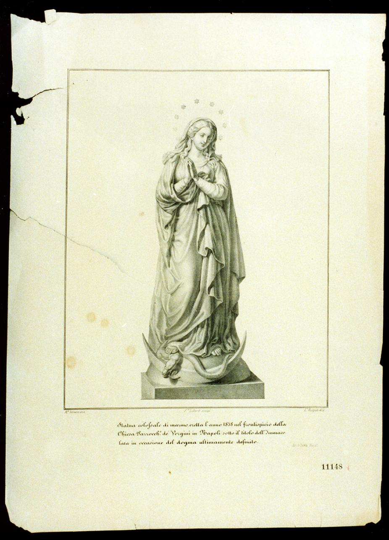 statua dell'Immacolata (stampa) - ambito napoletano (terzo quarto sec. XIX)