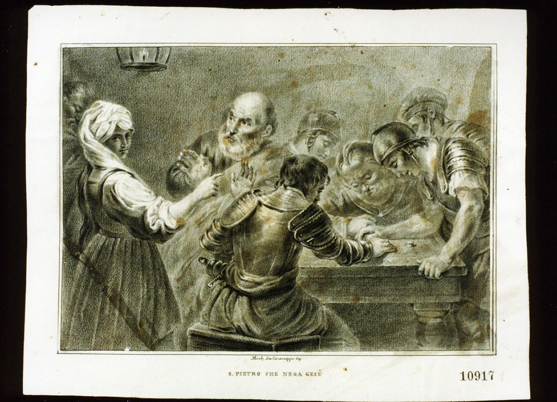 negazione di San Pietro (stampa) - ambito napoletano (metà sec. XIX)