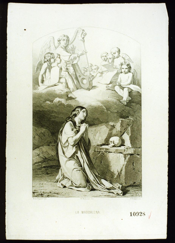 Santa Maria Maddalena penitente (stampa) di Pisante Francesco (sec. XIX)