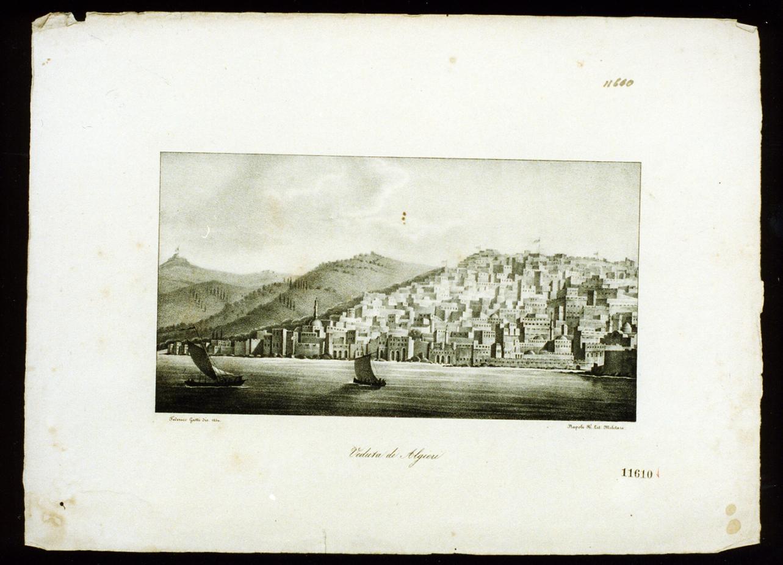 veduta di Algeri (stampa) - ambito italiano (sec. XIX)