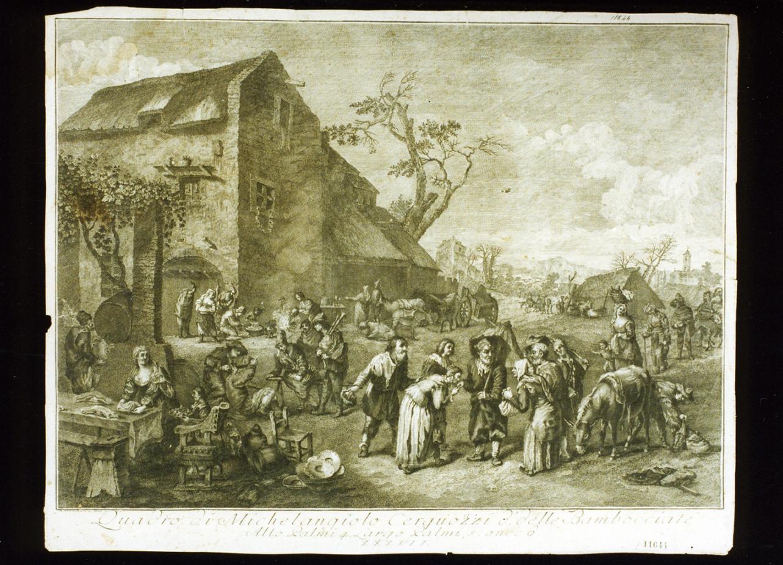 bambocciata (stampa) di Lorenzi Lorenzo (terzo quarto sec. XVIII)