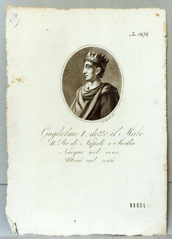 ritratto di Guglielmo il malo (stampa) di Biondi Carlo (prima metà sec. XIX)