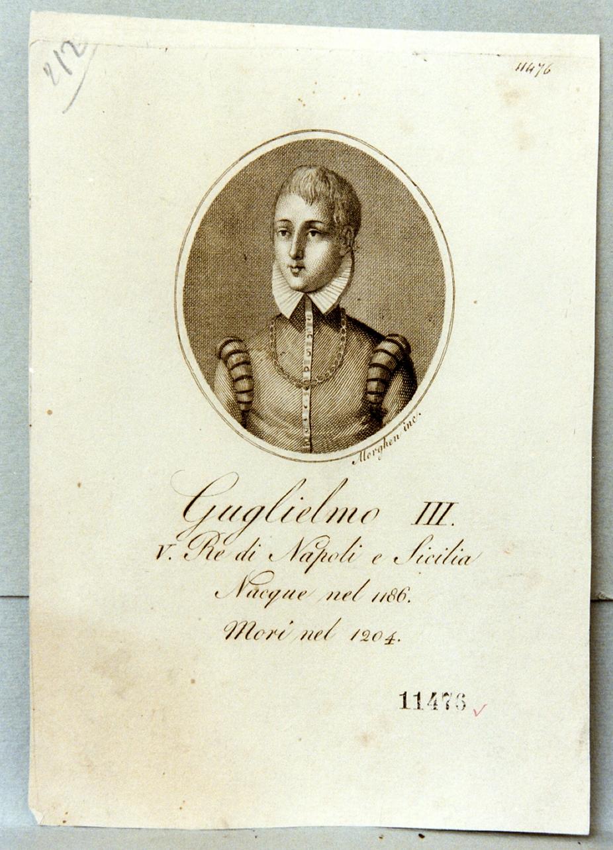 ritratto di re Guglielmo III (stampa) di Morghen Guglielmo (prima metà sec. XIX)