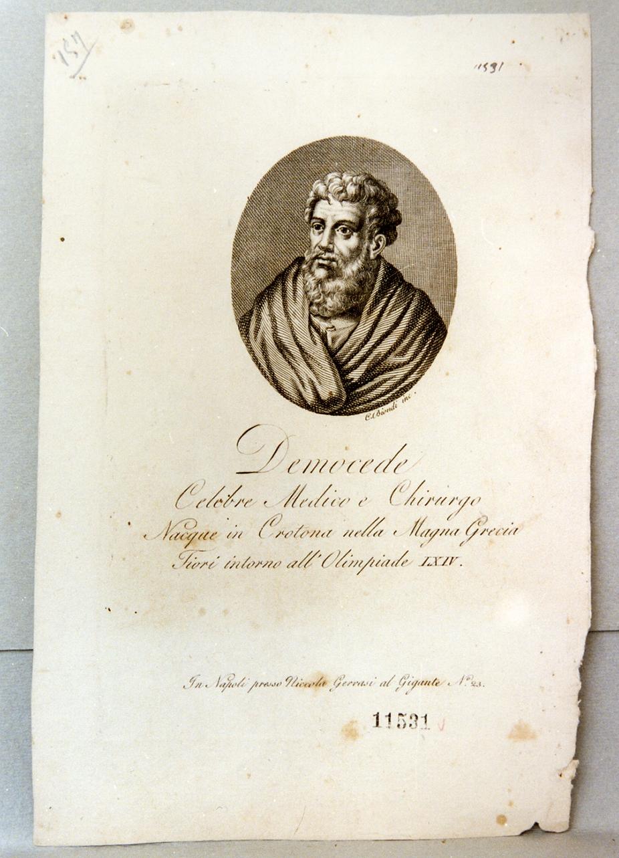 ritratto di Democede (stampa) di Biondi Carlo (prima metà sec. XIX)