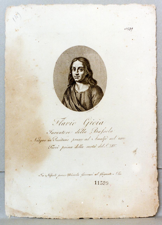 ritratto di Flavio Gioia (stampa) di Biondi Carlo (prima metà sec. XIX)