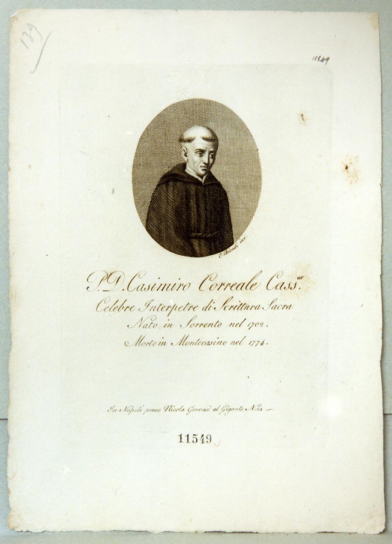 ritratto di Casimiro Correale (stampa) di Biondi Carlo (prima metà sec. XIX)