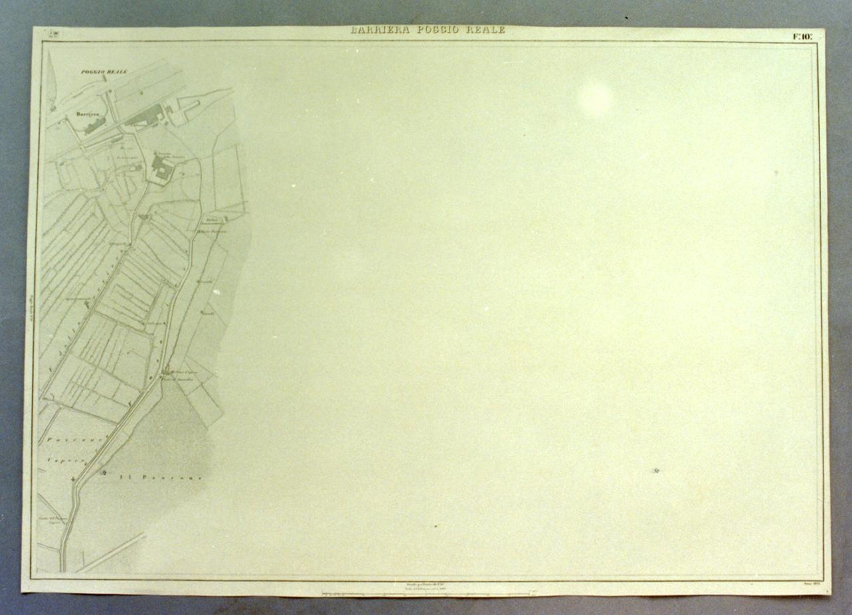 pianta topografica (stampa) - ambito napoletano (sec. XIX)