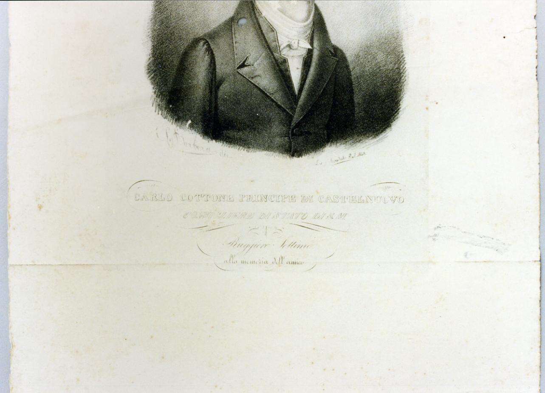 ritratto di Carlo Cottone (stampa) - ambito napoletano (sec. XIX)