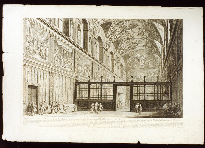 cappella Sistina (stampa) di Barbazza Francesco (secc. XVIII/ XIX)