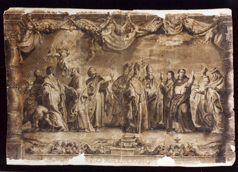 Dottori della chiesa ed Evangelisti (stampa) - ambito italiano (metà sec. XVII)